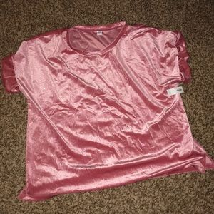 Old Navy sparkly velvet pink top  Size XXL